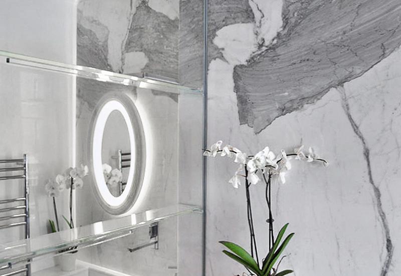 Appartamento Londra UK - Pareti rivestite in marmo