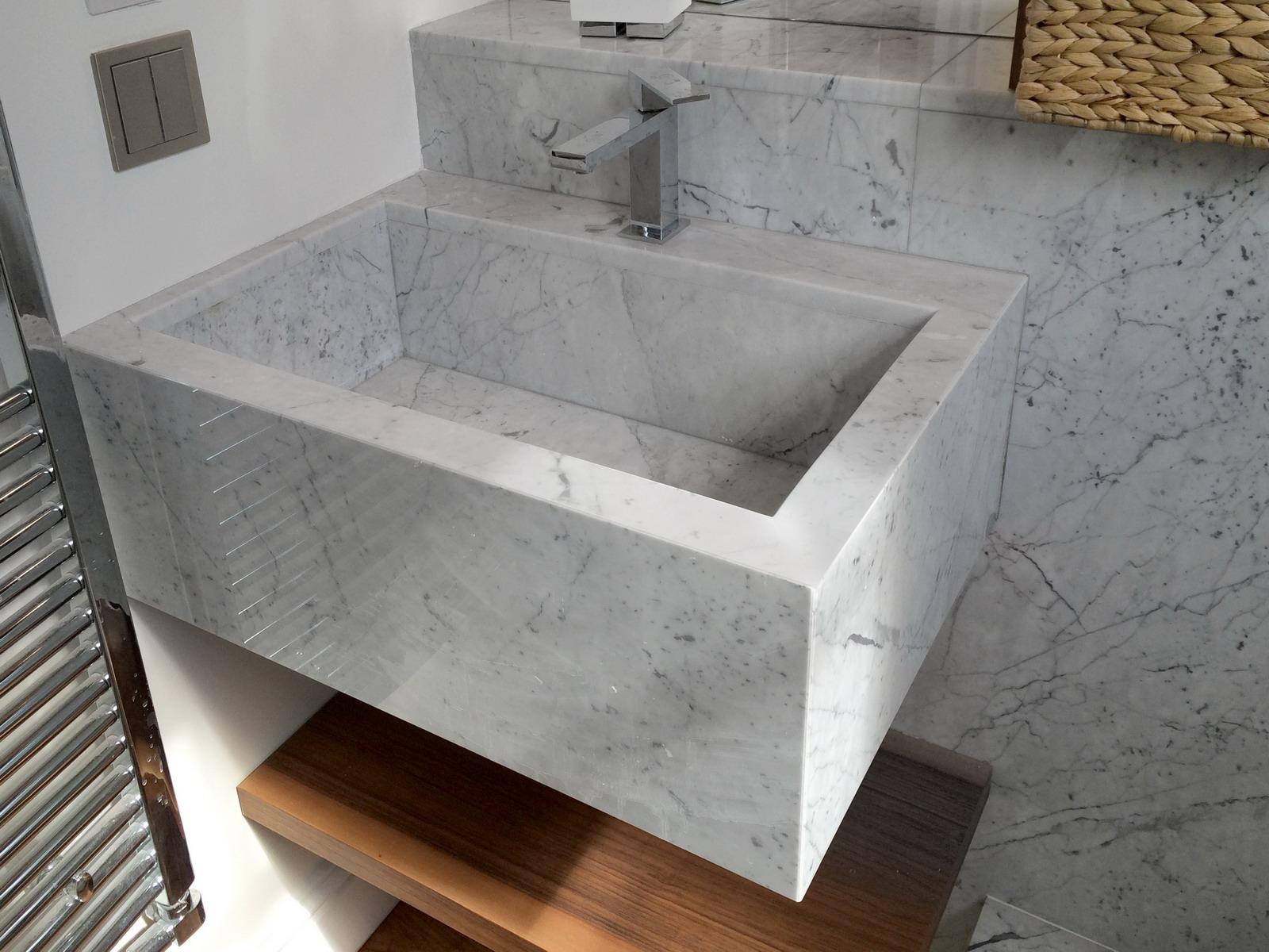 Appartamento Londra UK - Lavabo in Marmo Bianco