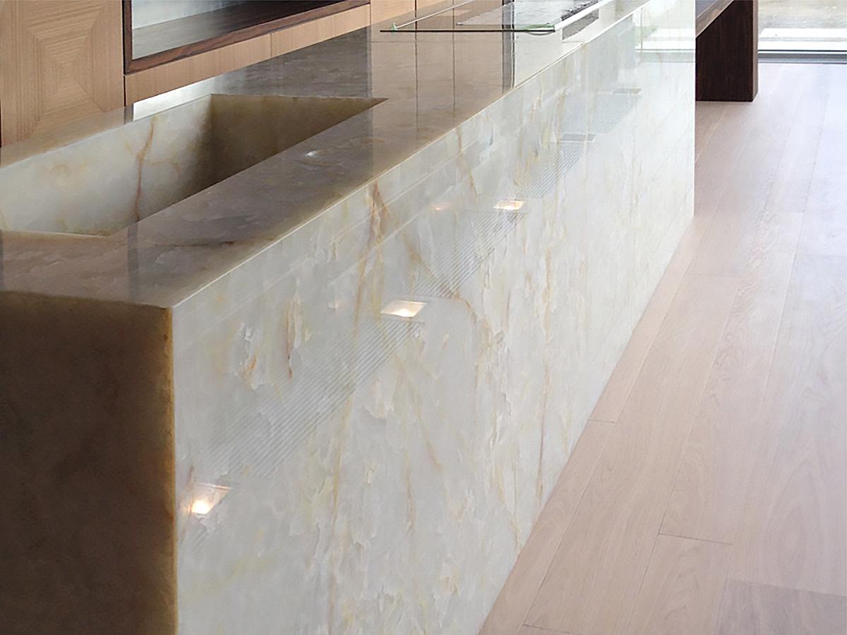 Marmo Rosa Del Portogallo private residence - milan, italy, marble kitchen countertops