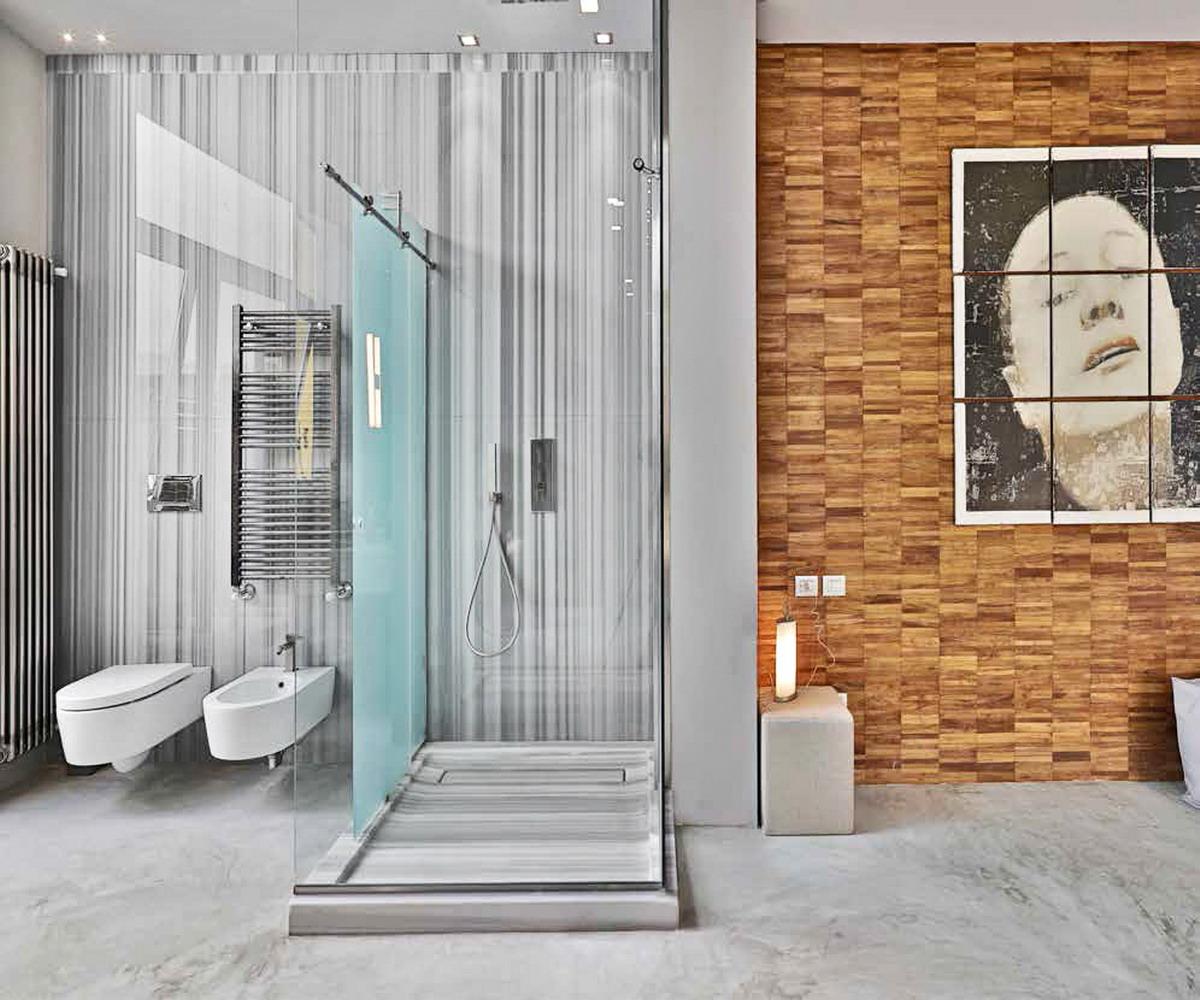 Residenza Privata - via del bollo Milano - doccia in marmo