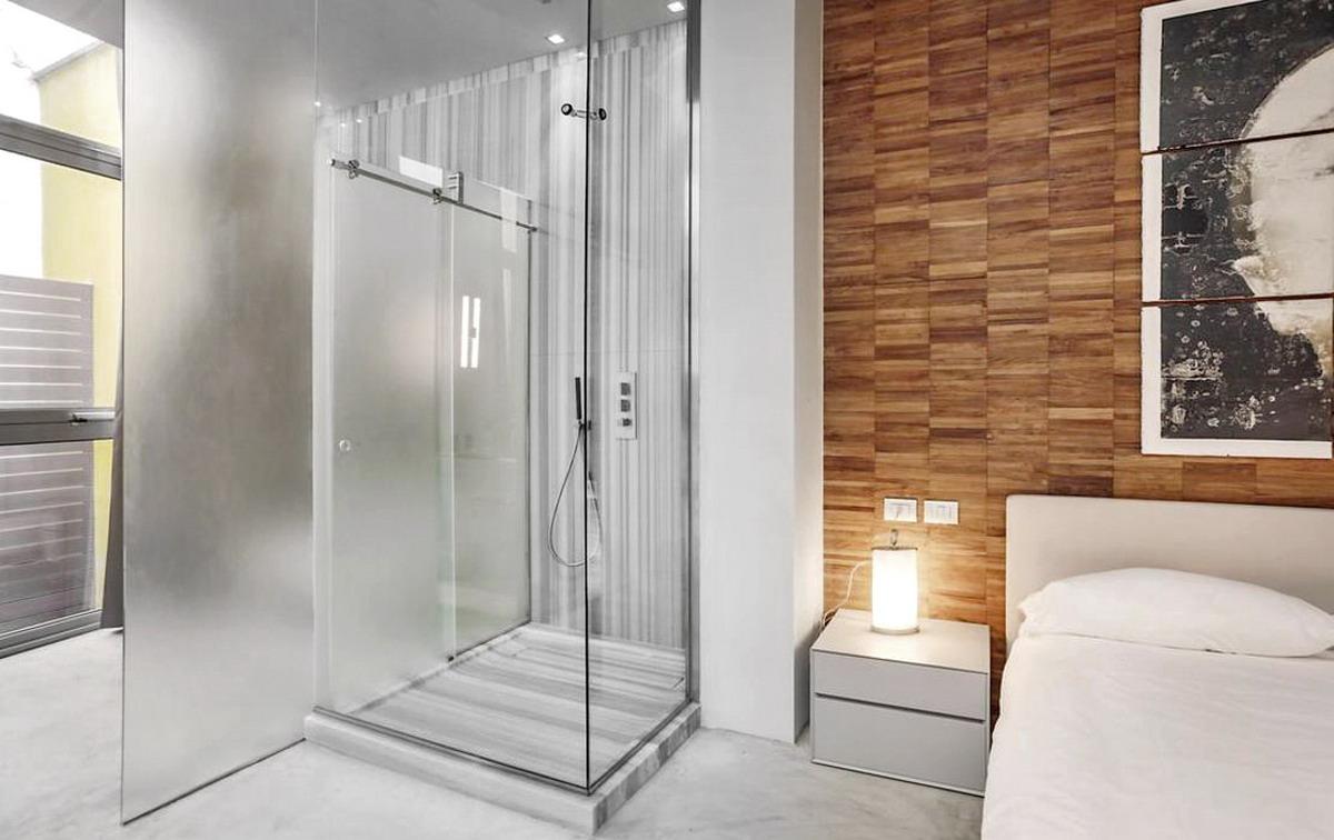 Residenza Privata - via del bollo Milano - Piatto doccia in marmo