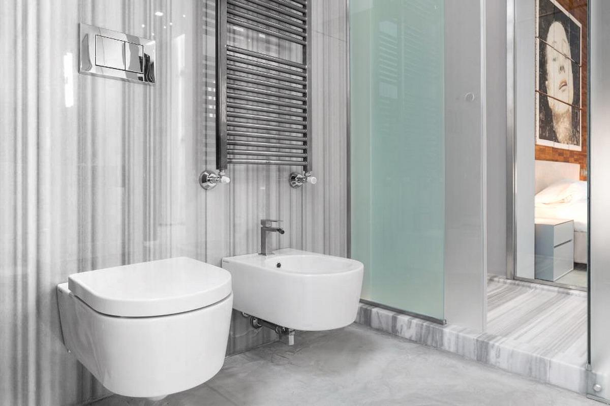 Residenza Privata - via del bollo Milano - Bagno in marmo