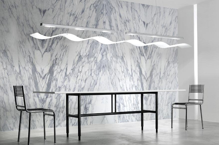 Realizzazioni: Piano Tavolo in marmo, pareti in marmo