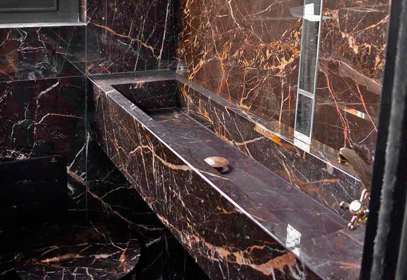 lavabo in marmo malgrete